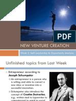 Week 2 - Self Leadership and Opportunity Analysis