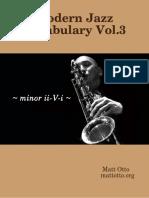 Matt Otto - Modern Jazz Vocabulary Vol.3 Minor II-V-i