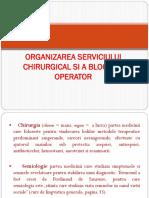 Organizarea Serviciului Chirurgical Si a Blocului Operator Lp Amg Si Mg