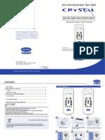 5 Manual Control Remoto RG56N - RG56V