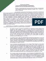 DECLARACIÓN CENTRO DE PADRES ESCUELA RURAL PULLINQUE