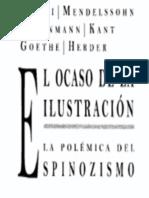 El Ocaso de La Ilustracion La Polemica Del Spinozismo