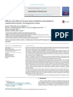 Efficacy and Safety of Normal Saline Instillation and Paediatric
