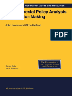 POLICY ANALYSIS Environmental Policy Analysis for Decision Making