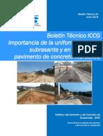 Boletín Técnico ICCG 03 Uniformidad en La Base de Pav. Concreto