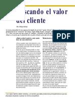 Buscando El Valor Del Cliente