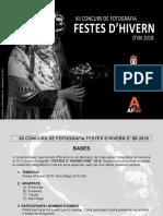 Bases XII Concurs Fotografic Festes d'Hivern 2018