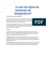 Tipos de Sensores de Temperatura