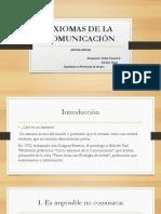 Axiomas de La Comunicacion Taller