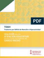 Guía TDAH. Profesores Ciclos Formativos. Conselleria de Educación