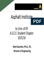 Asphalt Institute Presentation