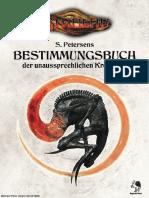 CTHULHU S Petersens Bestimmungsbuch Der Unaussprechlichen Kreaturen