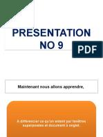 Cours No 1 Presentation No 9