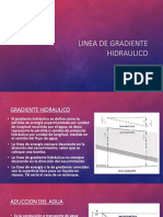 Linea de Gradiente Hidraulico