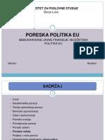 Poreska Politika EU