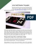 Permainan Kartu Judi Domino Terpopler