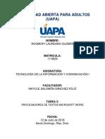 Informatica Tarea 3 - UAPA