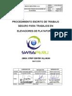 PROC. 027 - PETS Uso de Elevador Plataforma