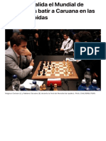 Carlsen revalida el Mundial de Ajedrez tras batir a Caruana en las partidas rápidas   Más Deporte