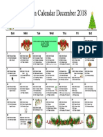 Mystic Recreation Calendar December 2018