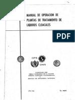 Manual de Operacion de Plantas de Tratamiento de Liquidos Cloacales