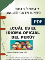 Diversidad Étnica y Lingüística en El Perú