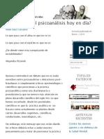 Psicoanalisis Hoy en La Actualidad 2