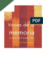 Libro Voces de La Memoria Al Rescate de La Textileria Nativa Final