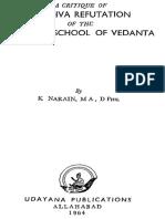 A Critique of Madhva Refutation of the Samkara School of Vedanta