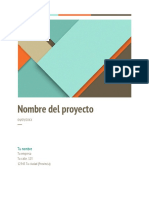 Propuesta de Proyecto