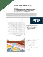 Teste Prático Geologia 10° Ano