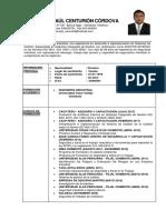 CV Ronald Centurión Córdova