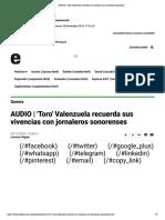 29-11-18 - EXPRESO - Toro' Valenzuela Recuerda Sus Vivencias Con Jornaleros Sonorenses