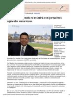 27-11-18 - CANAL SONORA - El Toro Valenzuela se reunirá con jornaleros agrícolas sonorenses _ Canal Sonora