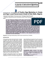 Economic Analysis of Poultry Egg Marketing in Oredo and Egor Local Government Areas of Edo State, Nigeria