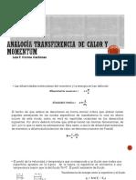 Analogía Transferencia de Calor y Momentum