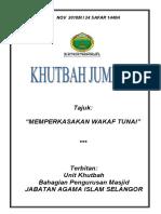 02.11.2018 (Rumi) Memperkasakan Wakaf Tunai