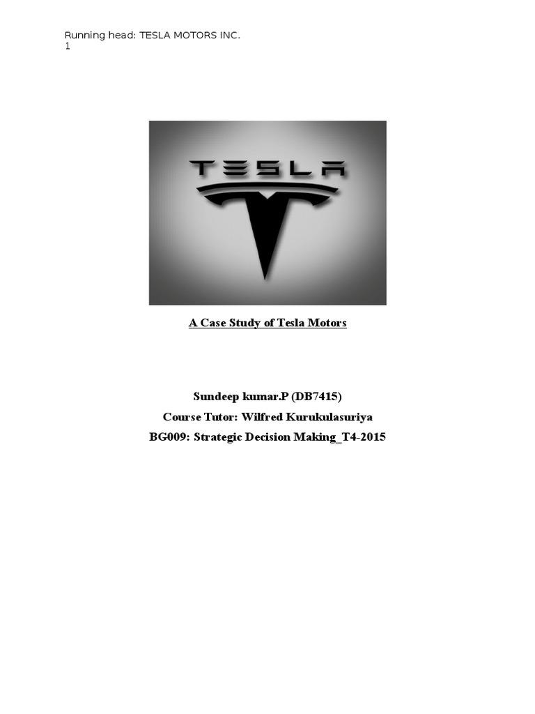 a case study of tesla motors electric vehicle elon musk rh es scribd com