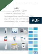 WEG Interruptores Mdw Dwp Rdw Siw Spw -Catalogo Espanol