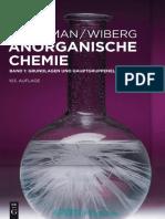 Holleman, Arnold F._ Wiberg, Nils - Anorganische Chemie. Band 1, Grundlagen Und Hauptgruppenelemente (2016, De Gruyter)