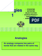Analogies 1 Six Types of Analogies