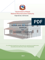 NRA Repair and Retrofitting Manual for Masonry Structure_181122