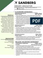 sandberg vicky resume