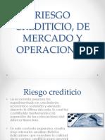 Riesgo Crediticio, De Mercado y Operacional