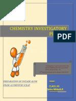 Potash Alum Chemistry Invesigatory Project class 12