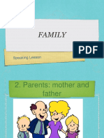 Family Vocabulary Ppt ESL