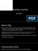 interactive journal ted 407