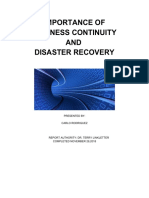 Importance of Disaster Recover and Business Continuity