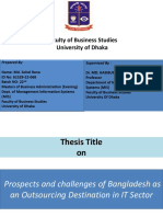 Prospects and challenges of Bangladesh as an Outsourcing Destination in IT Sector