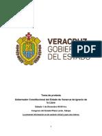 Ficha Informativa Toma de Protesta Cuitláhuac García